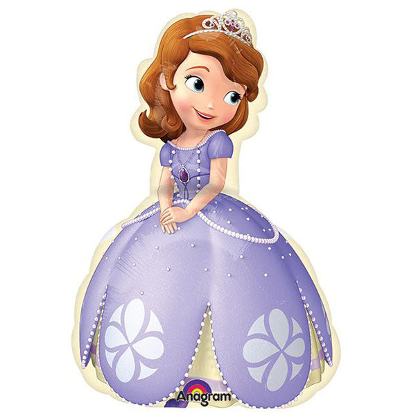 Mini Shape Sofia the First (Flat) Foil Balloon (Requires air inflation, heat sealing and balloon cup & stick) - Each