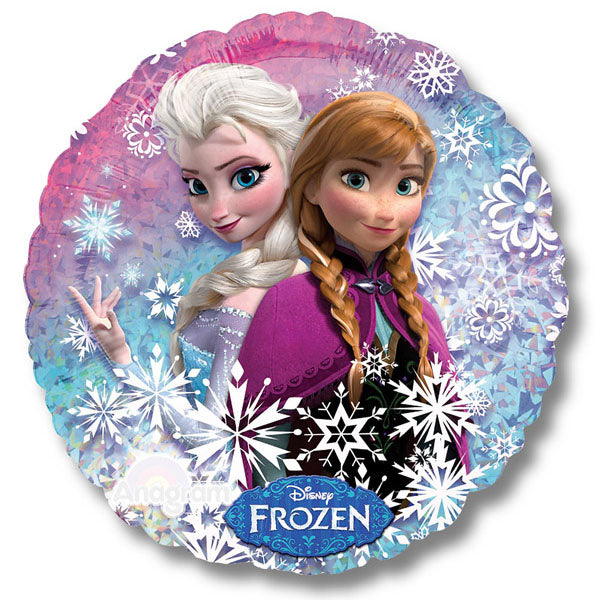 45cm Disney Frozen Holographic Foil Balloon (Self sealing balloon, requires helium inflation) - Each