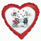 45cm Mickey & Minnie Love Holographic Foil Balloon (Self sealing balloon, Requires helium inflation) - Each
