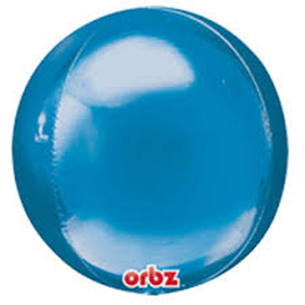 Shape Orbz Blue 38cm x 40cm Foil Balloon (Self sealing balloon, Requires helium inflation)