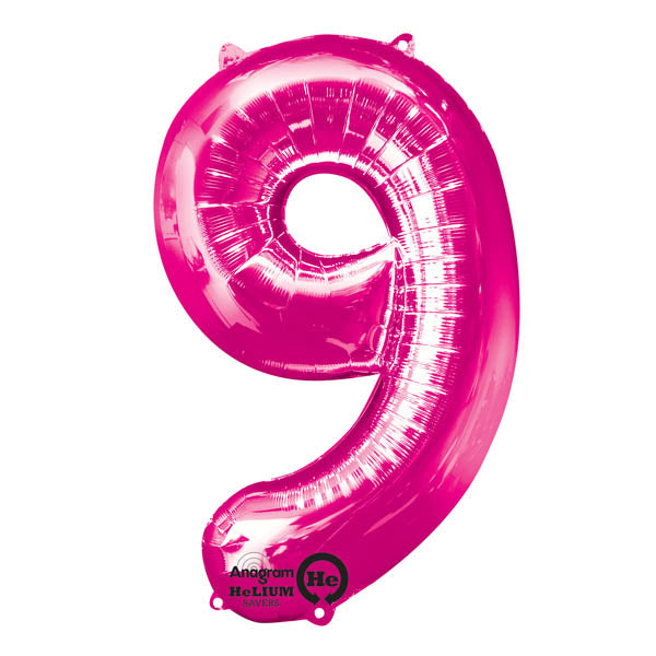 Number 9 Foil Balloon 86cm