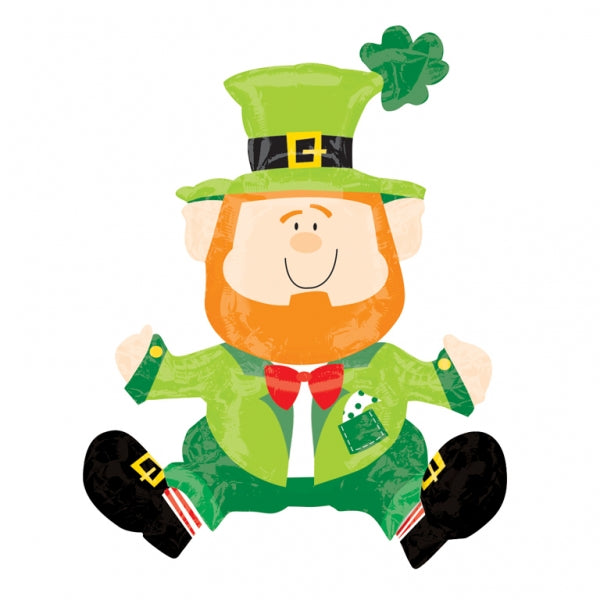 Shape Sitting Leprechaun - Great Decoration Foil Balloon 45cm x 55cm Foil Balloon (Air Fill Only-Straw provided) Such a Dude! - Each