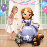 Airwalker Sofia The First 93cm x 121cm Foil Balloon (Self sealing balloon, Requires helium or air inflation) - Each
