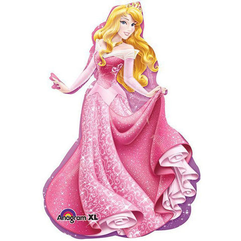 Shape Sleeping Beauty Princess Foil Balloon 58cm Wide x 86cm High (Self sealing balloon, requires helium inflation) - Each