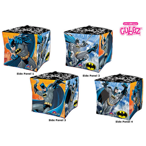 Shape Cubez Batman 38cm x 38cm Foil Balloon (Self sealing balloon, Requires helium inflation) - Each
