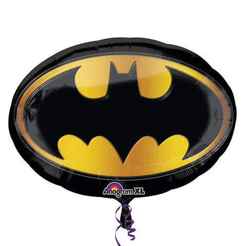 Shape Batman Emblem 68cm x 48cm Foil Balloon (Self sealing balloon, requires helium inflation) - Each