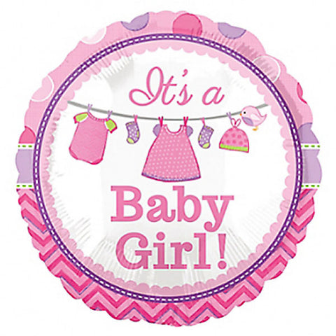 45cm It's a Baby Girl! Shower with Love Foil Balloon (Self sealing balloon, Requires helium inflation) - Each