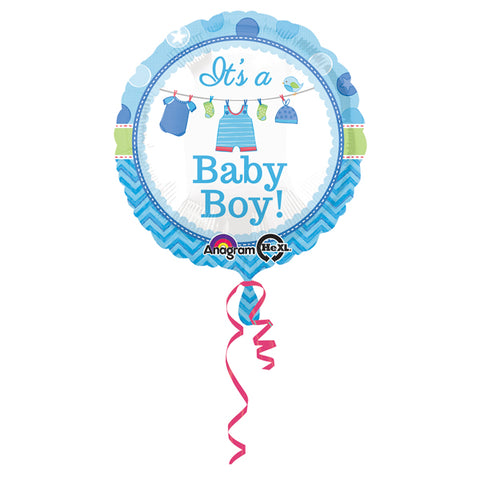 45cm It's a Baby Boy! Shower with Love Foil Balloon (Self sealing balloon, Requires helium inflation) - Each