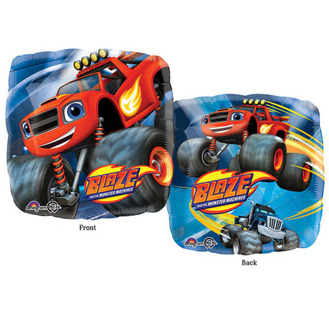 45cm Blaze & The Monster Machines  2 Sided Design Foil Balloon (Self sealing balloon, requires helium inflation) - Each