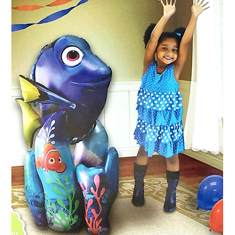 Airwalker Finding Dory & Nemo 78cm Wide x 139cm High Foil Balloon (Self sealing balloon, Requires helium inflation) - Each