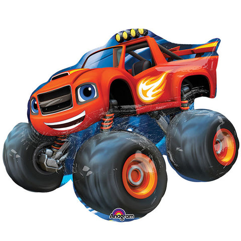 Shape Blaze & the Monster Machines 86cm x 71cm Foil Balloon (Self sealing balloon, requires helium inflation) - Each