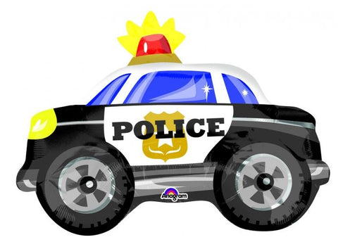 Junior Shape Police Car 45cm x 60cm Foil Balloon (Self sealing balloon, requires helium inflation) - Each