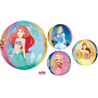 Shape Orbz Princess Dream Big 4 Sided Design 38cm x 40cm Clear Balloon - See Thru (Self sealing balloon, requires helium inflation) - Each
