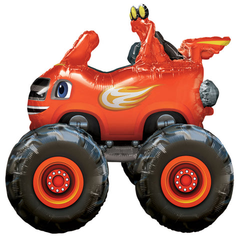 Airwalker Blaze & The Monster Machines 93cm x 81cm Foil Balloon (Self sealing balloon, Requires helium inflation or can be air filled) - Each
