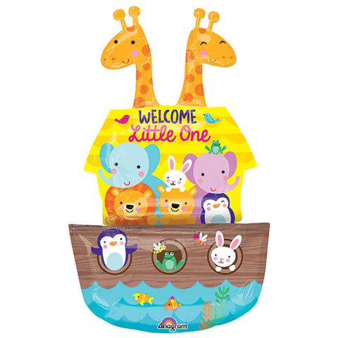 Shape Noah's Ark Baby Shower Welcome Little One 68cm x 109cm Foil Balloon (Self sealing balloon, Requires Helium inflation) - Each