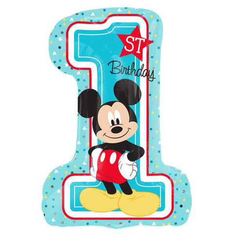 Shape Mickey 1st Birthday Fun To Be One (Self Sealing Balloon, Requires Helium Inflation) - Each