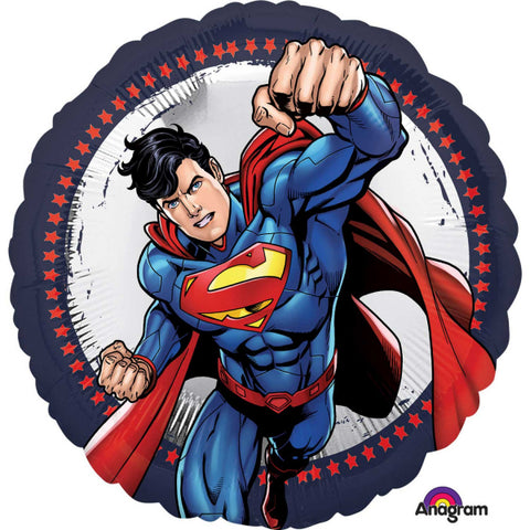 45cm Superman Flying Foil Balloon (Self Sealing Balloon, Requires Helium Inflation) - Each