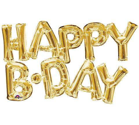 Shape Script HAPPY BIRTHDAY Gold