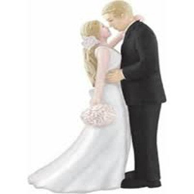 Cake Topper Bride & Groom Blonde Haired Bride
