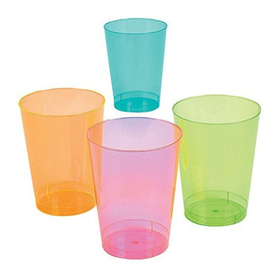 Tumblers Neon Cups Assorted Value Pack