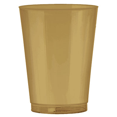 Cups Gold Plastic Tumblers Value Pack 72 266ml - Pack of 72