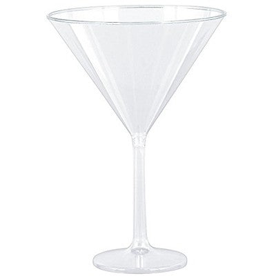 Jumbo Martini Glass Clear Plastic 740ml