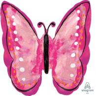 Shape Butterfly Painted Pink