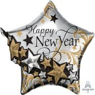 Shape Happy New Year Star Garland 3D Multi