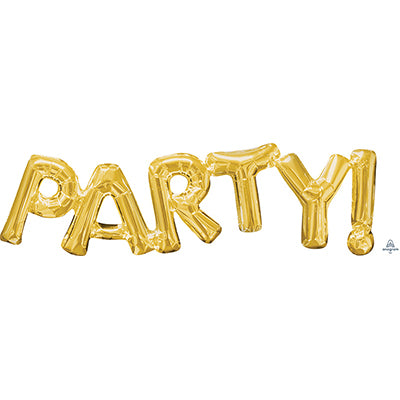Shape PARTY! Script Gold Air Fill Only