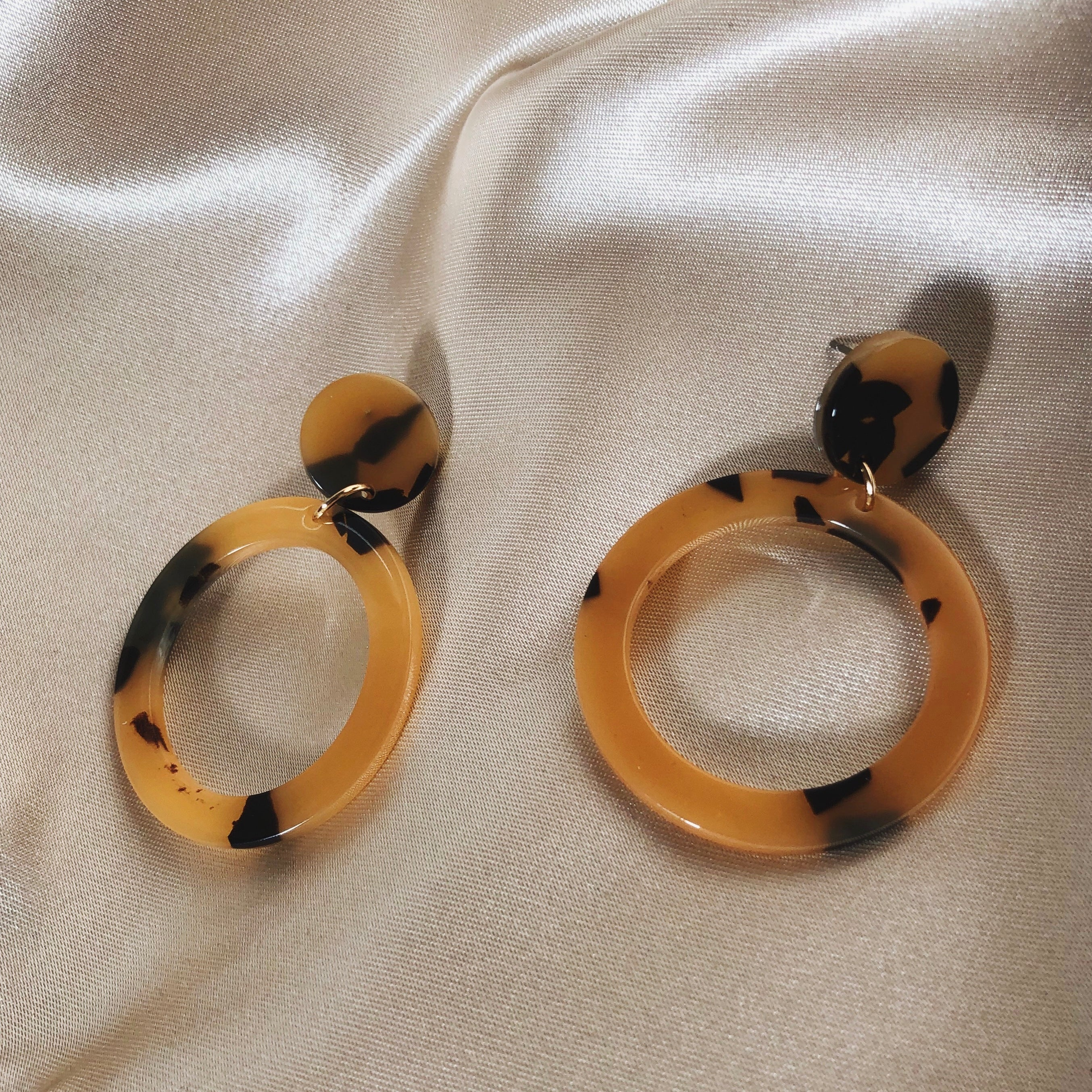 Feisty Leopard Mini Hoops