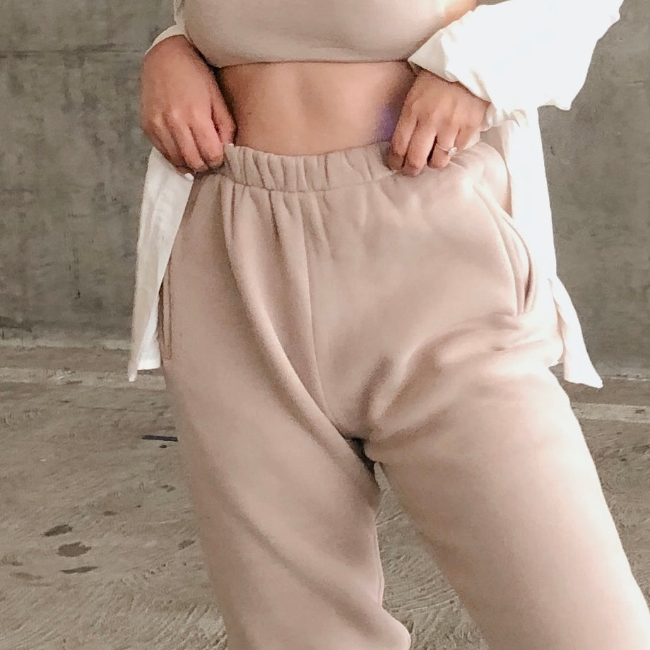 Cozy Day Jogger - Taupe