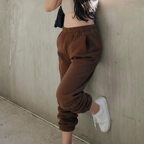 Cozy Day Jogger - Chocolate