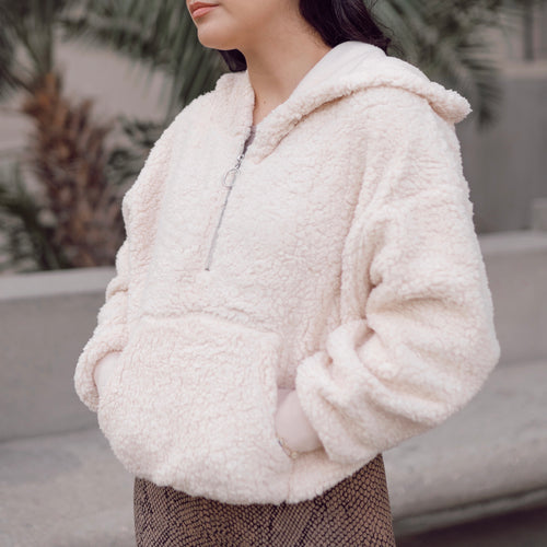 Marshmallow Sherpa Pullover