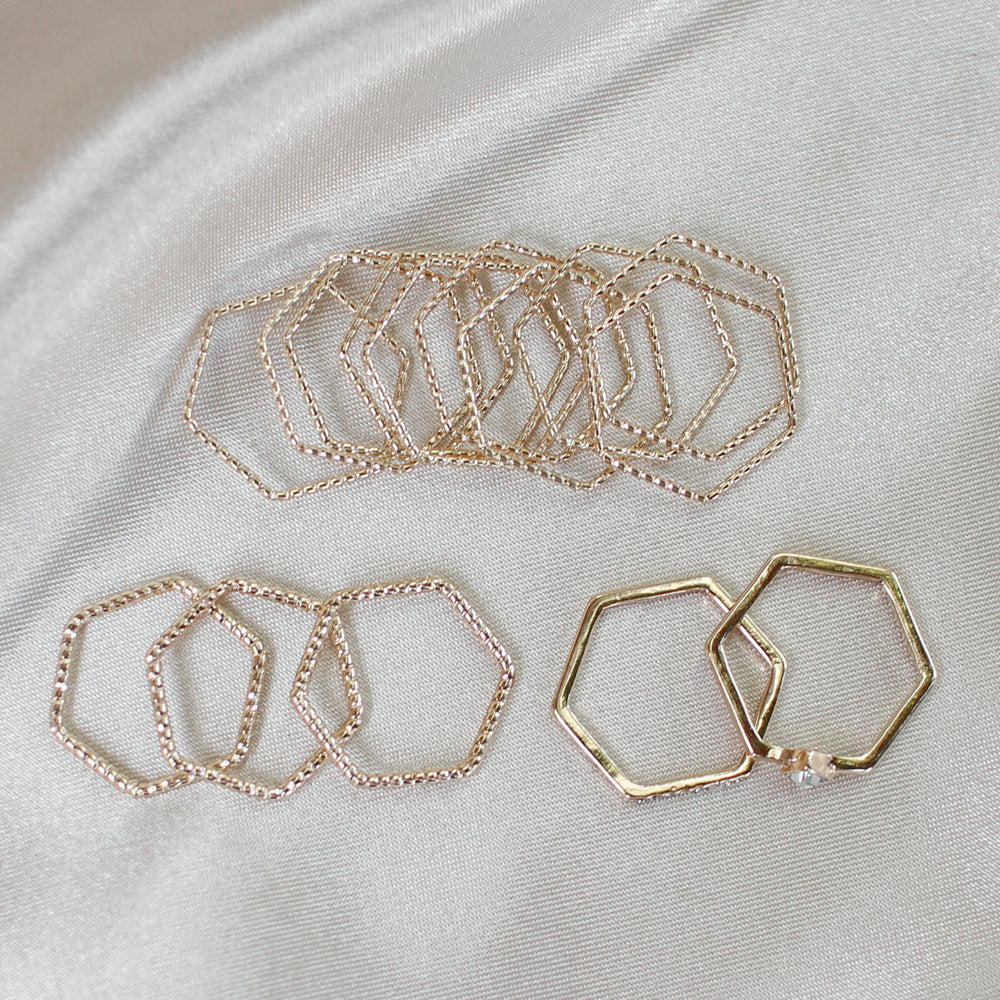 Honey Comb Ring Set