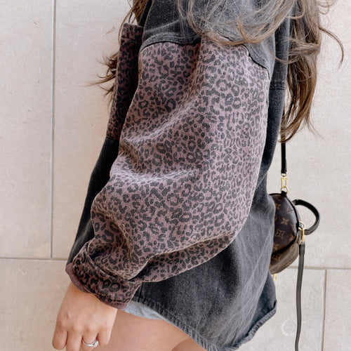 Leopard Moment Denim Jacket