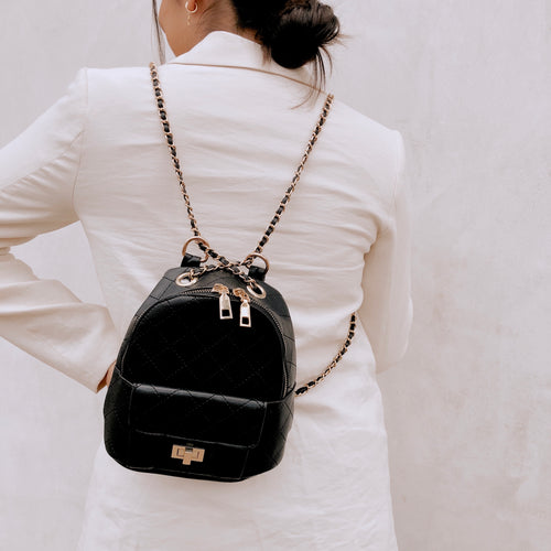 Paris Mini Backpack - Black