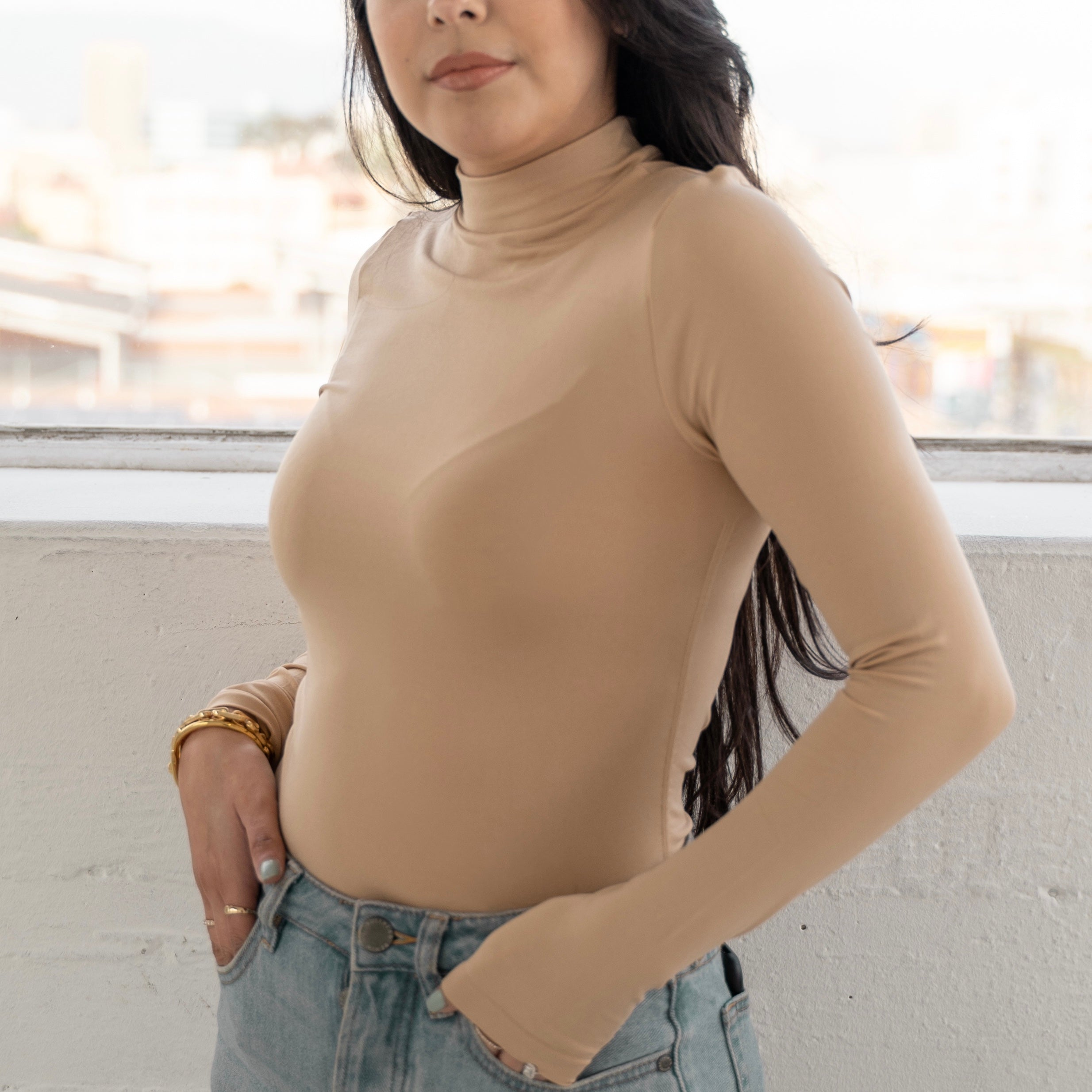 Seamless Long Sleeve Top - Nude