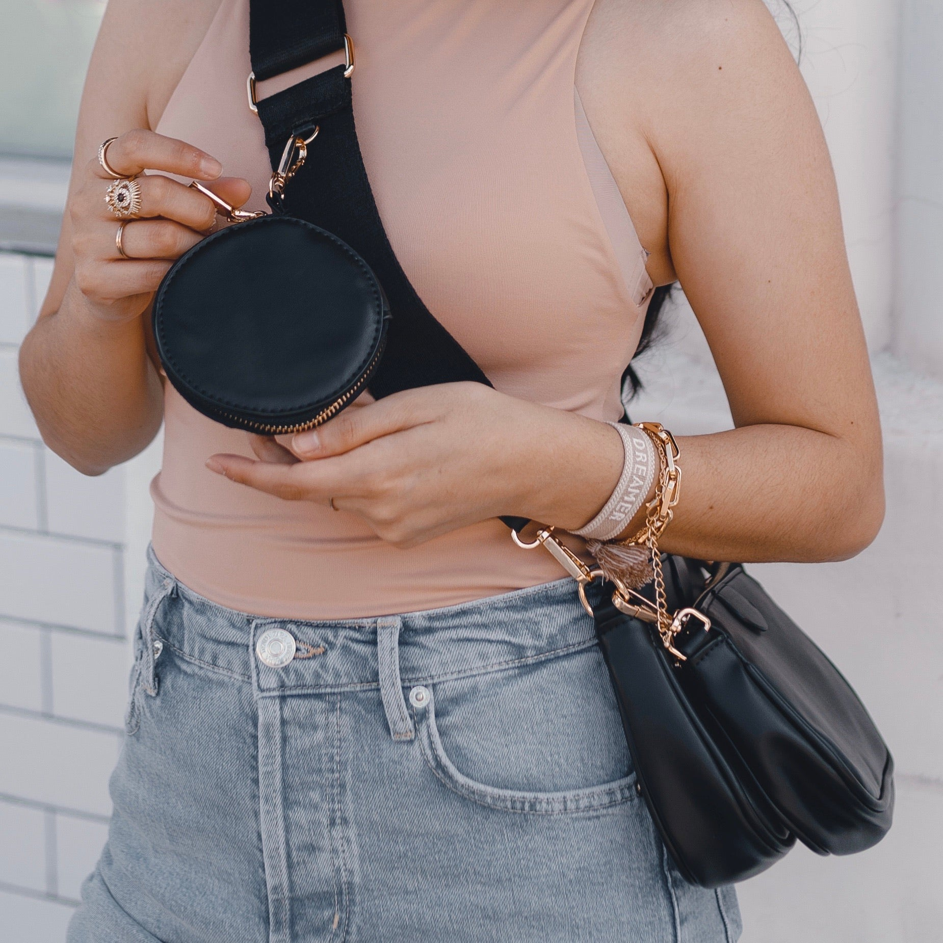 The Luxe Crossbody Bag - Black