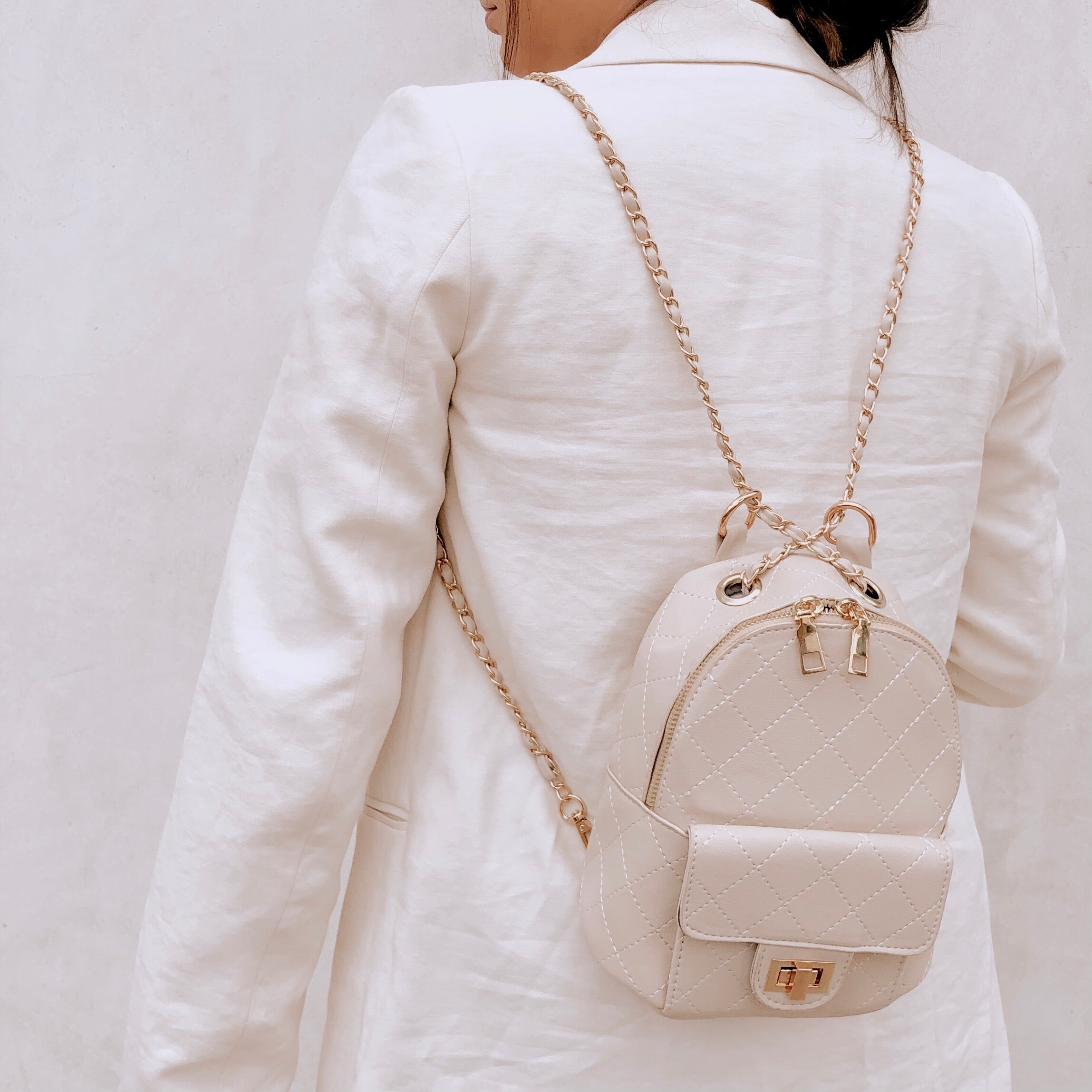 Paris Mini Backpack - Ivory