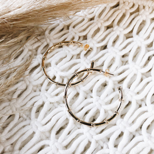 Gold Dipped Bamboo Hoops