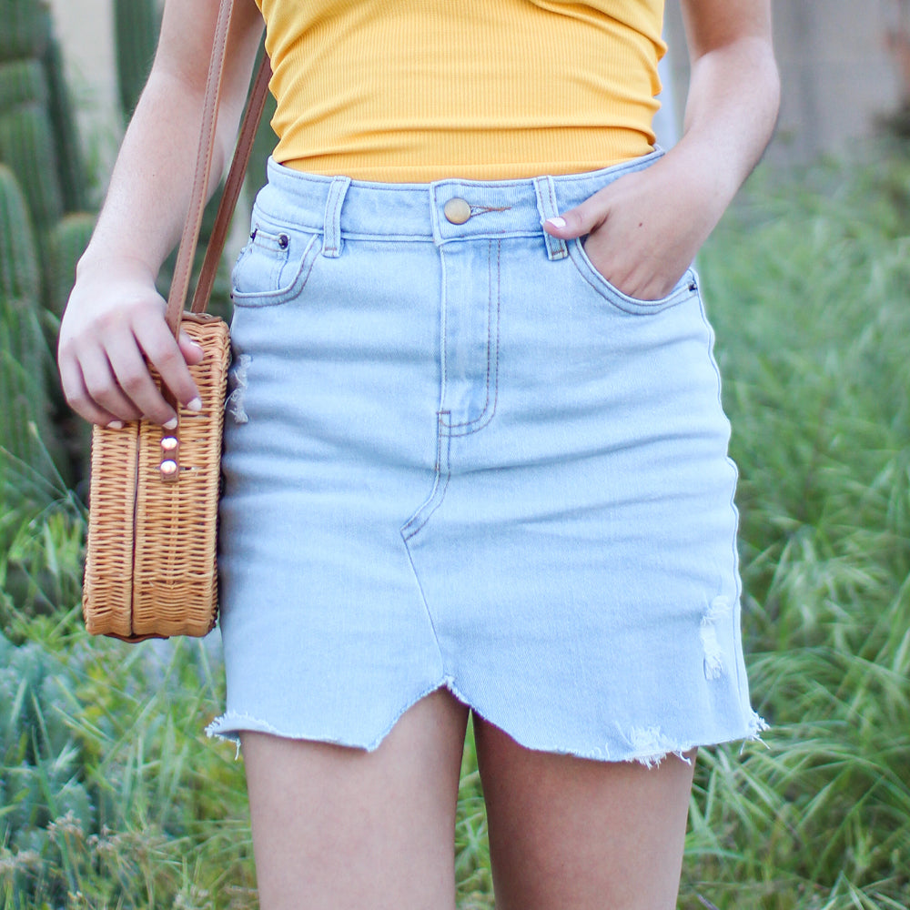 Merica Denim Skirt