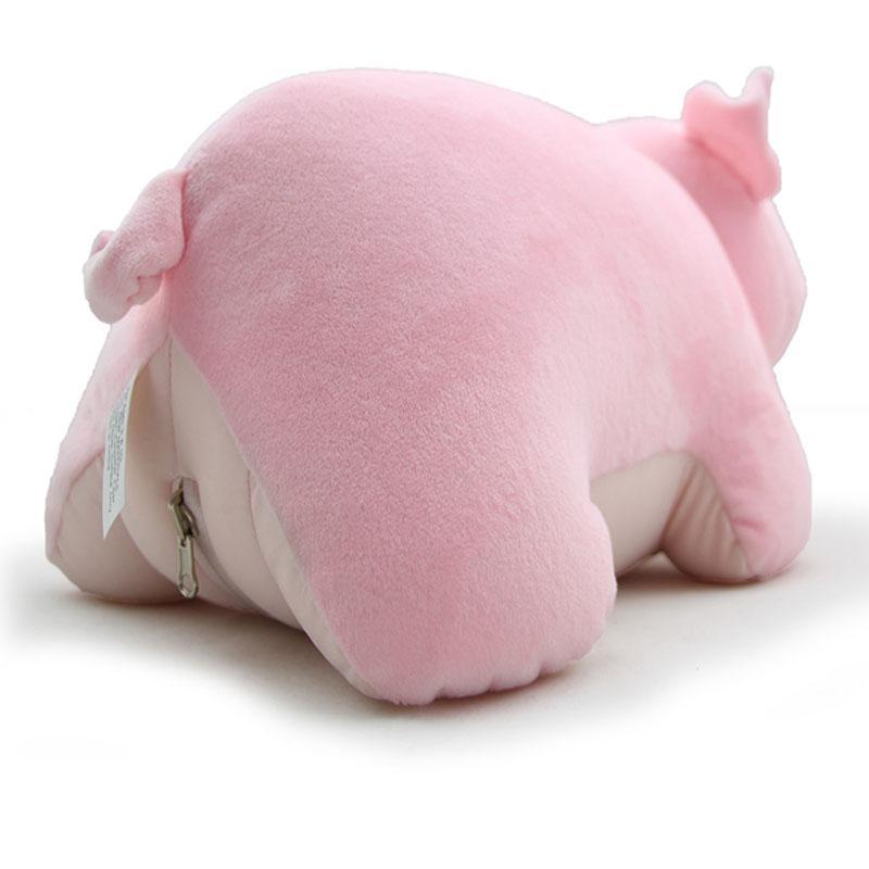Transforming Pig Travel Pillow and Plush Doll