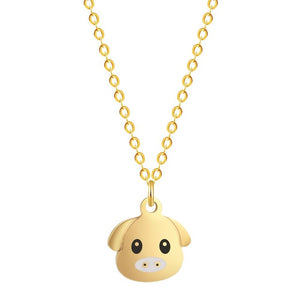 Pearl Box Pig Necklace