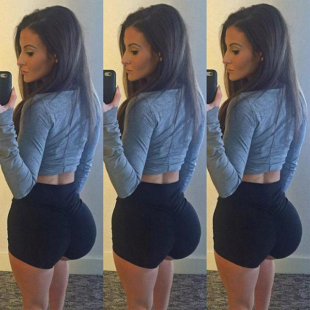 High-Waist Push Up Booty Shorts