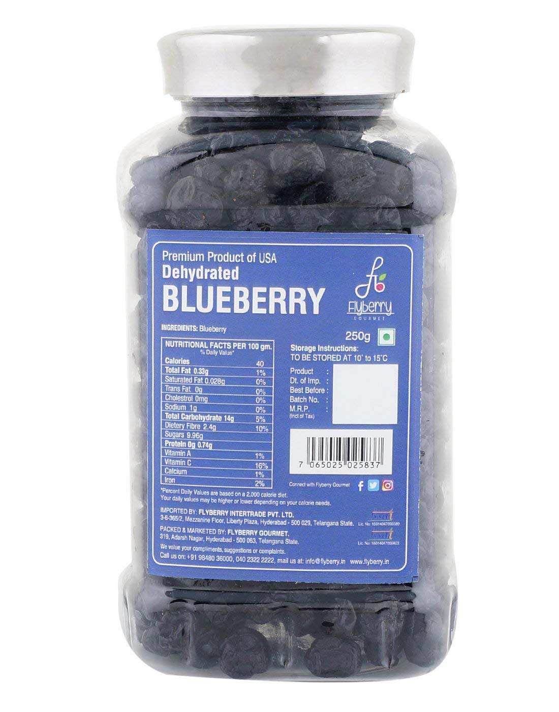 Flyberry Gourmet Dehydrated Blueberry