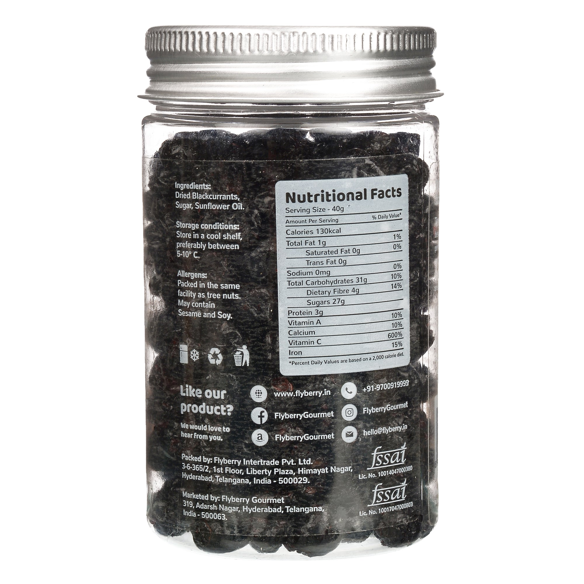 Flyberry Dried Blackcurrant