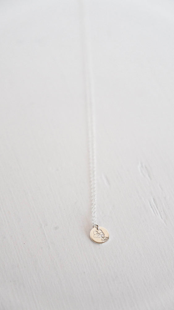 Wildflower silver coin necklace