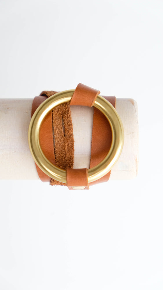 Leather wrap Nolen bracelet