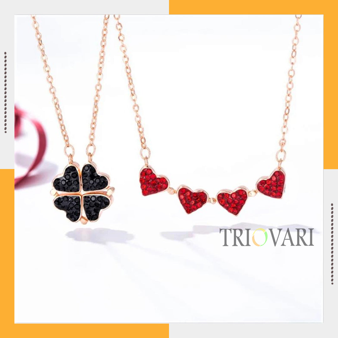 Stylish 4 Hearts Necklace