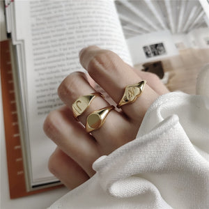 Real 925 Sterling Silver Chic Rings
